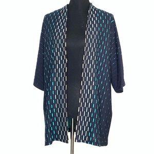Ming Wang | Long Texture Cardigan Size L